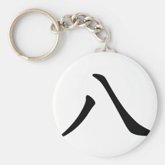 Chinese Character : ba, Meaning: eight number Basic Round Button Key Ring
