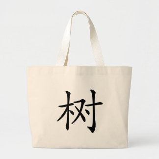 Chinese Character : shu, Meaning: tree, plant, Tote Bag