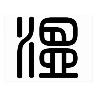 Chinese Character : wen, Meaning: warm, mild, mode Postcard