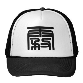 Chinese Character : wu, Meaning: fog Mesh Hat