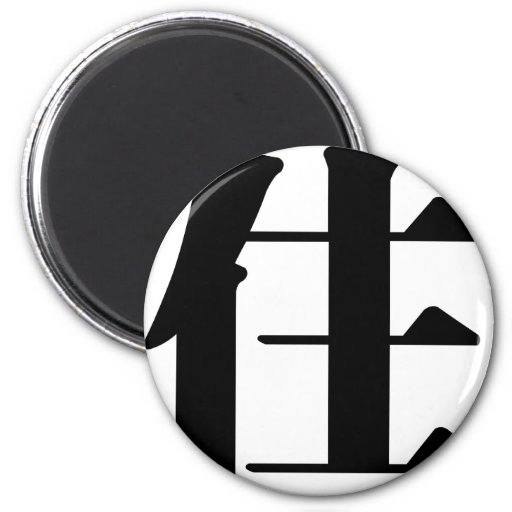 Chinese Character : zhu, Meaning: live, stay Magnets