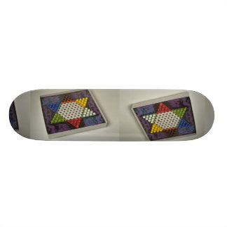 Chinese checkers puzzle game board custom skate board