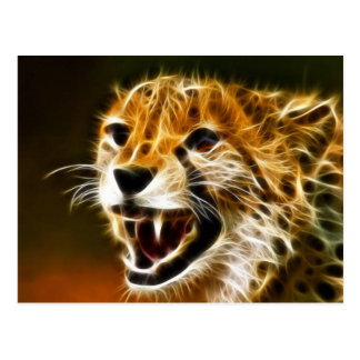 Chinese Cheetah with white electricity Postcard