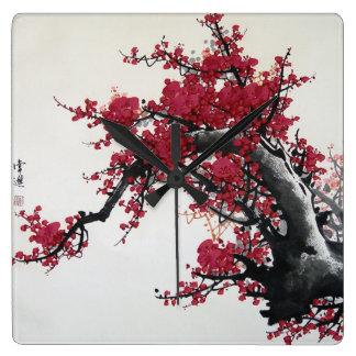 Chinese Cherry Blossom Clock