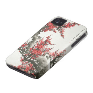 Chinese Cherry Blossom iPhone 4 Case-Mate Case
