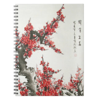 Chinese Cherry Blossom Notebooks