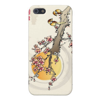 Chinese Cherry Blossoms Love Birds Case For iPhone 5/5S