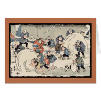 Chinese Children in the Snow Card