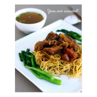 Chinese Chow Mein Collection Invitation Postcard