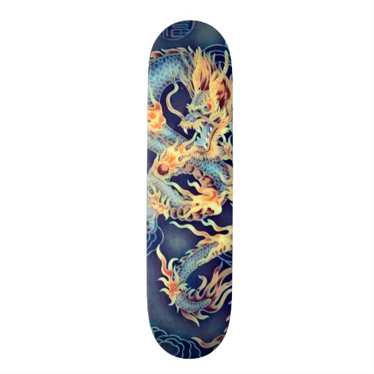 Chinese Chrome Dragon Element Custom Pro Board Skateboard