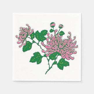 Chinese chrysanthemums  - soft pink paper napkin