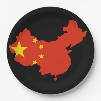 Chinese country paper plate