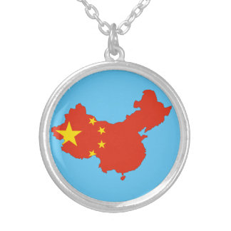 Chinese country silver plated necklace