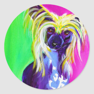 Chinese Crested #1 Round Sticker