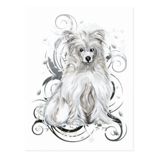Chinese Crested Blue NB Postcard