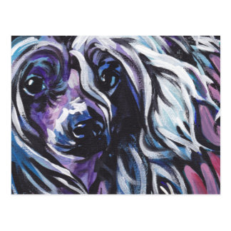 Chinese Crested Bright Colorful Pop Dog Art Postcard