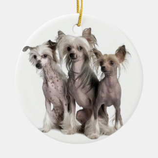 Chinese Crested Christmas Ornament