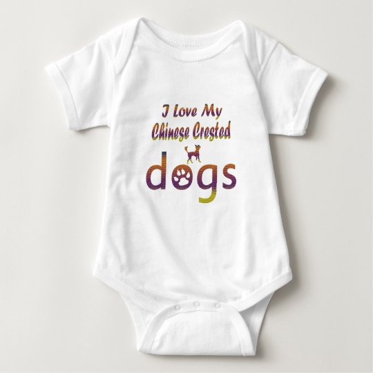 Chinese Crested designs Baby Bodysuit