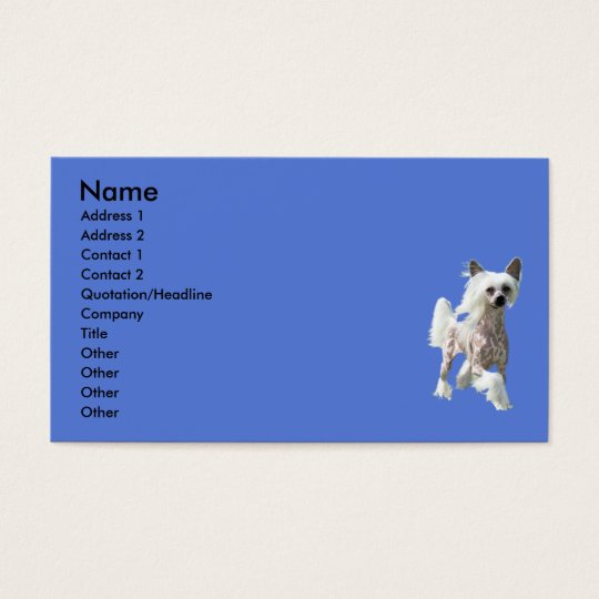 Chinese Crested DIVA Business Card