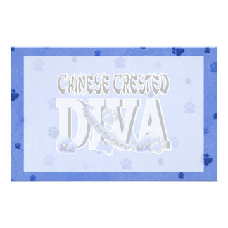 Chinese Crested DIVA Stationery