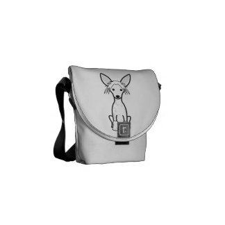 Chinese Crested Dog Cartoon Courier Bag