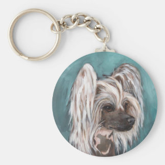 Chinese crested dog key ring