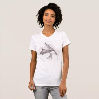 Chinese Crested DogArt Jersey T-shirt