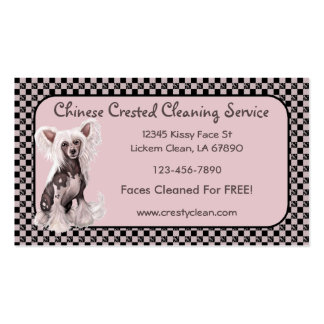 Chinese Crested Hairless Sit Business Cards