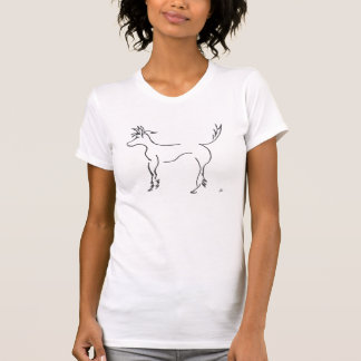 chinese crested line drawing t-shirt