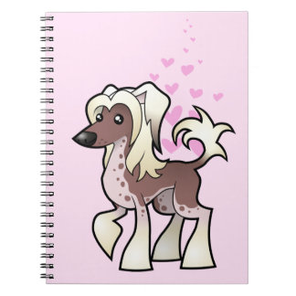 Chinese Crested Love (hairless) Notebooks