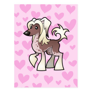 Chinese Crested Love (hairless) Postcard