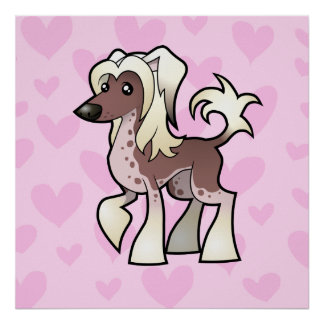 Chinese Crested Love (hairless) Poster