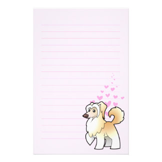 Chinese Crested Love (powderpuff) Personalised Stationery