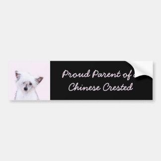 Chinese Crested (Powderpuff) Bumper Sticker