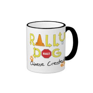 Chinese Crested Rally Dog Ringer Mug