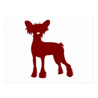 Chinese Crested (Red) Postcard
