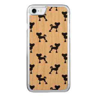 Chinese Crested Silhouettes Pattern Carved iPhone 7 Case