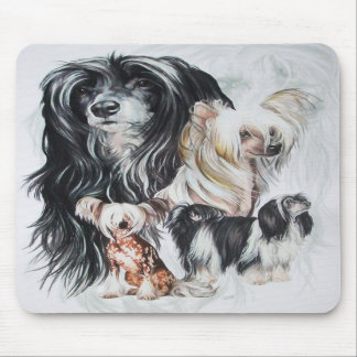 Chinese Crested wGhost Mouse Pads