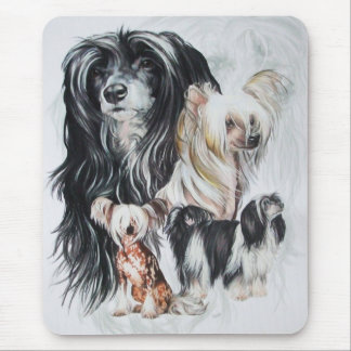 Chinese Crested wGhost Mouse Pad