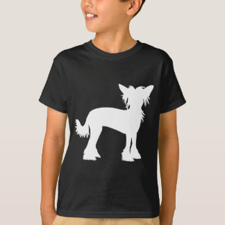 Chinese Crested White Silhouette T-Shirt