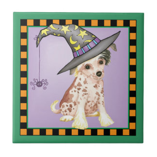 Chinese Crested Witch Tile