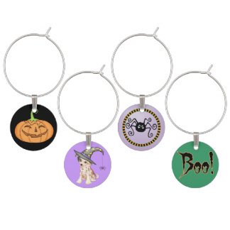 Chinese Crested Witch Wine Charms
