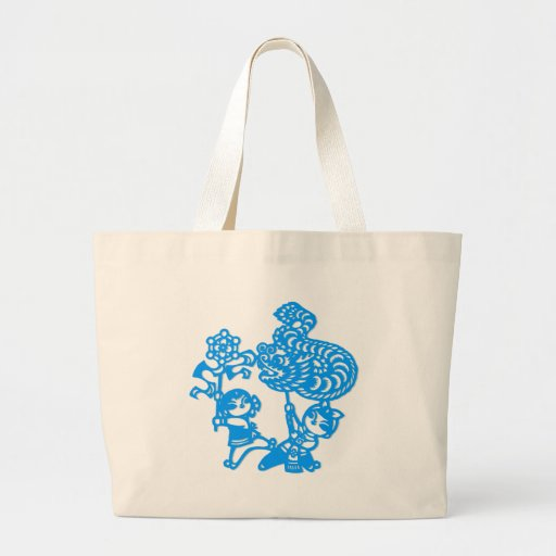 Chinese culture : dragon dance canvas bag