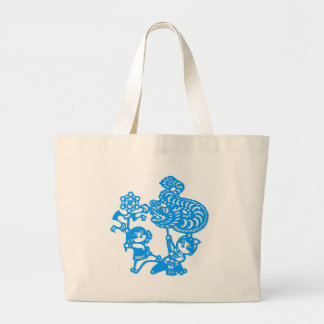 Chinese culture : dragon dance jumbo tote bag
