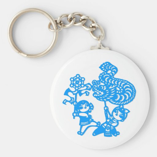 Chinese culture : dragon dance keychain