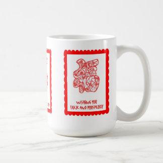 Chinese cutwork, symbol 2 basic white mug