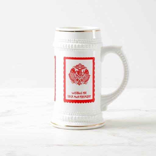 Chinese cutwork, Traditional Design 1 Coffee Mugs