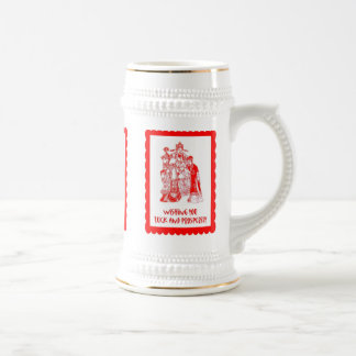 Chinese cutwork, Traditional People Beer Steins