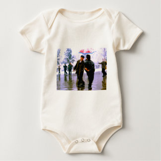 Chinese dancing on the ice baby bodysuit