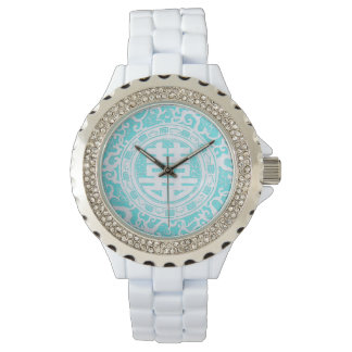 Chinese Double Happiness - Robins egg blue Wristwatches
